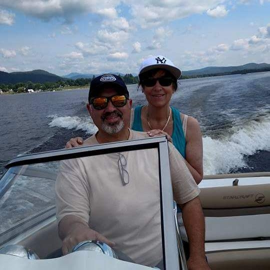 Tony and Debbie Bacchetta enjoying Schroon Lake